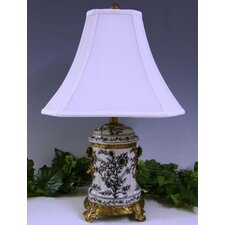 "Floral Tone 23"" H Table Lamp with Bell Shade"
