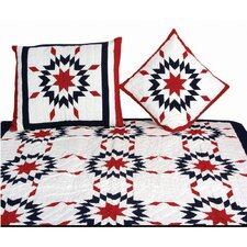 Patriotic Star New England Quilt