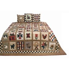 Primitive Sampler Antique Plaids Quilt