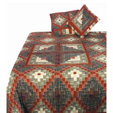 Stam and Cabin Citrus Terracotta Quilt