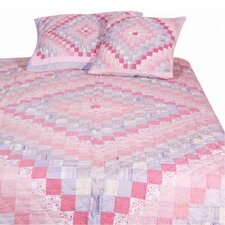 Trip Around The World Pink Lilac Quilt