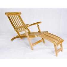 <strong>Les Jardins</strong> Teak Steamer Lounge Chair