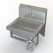 "NSF 17"" x 15"" Knee Operated Sink with Faucet"