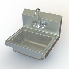 "NSF 17"" x 15"" Hand Sink with Faucet"