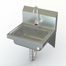 "NSF 17"" x 15"" Wall Mounted Commercial Hand Sink with Faucet"