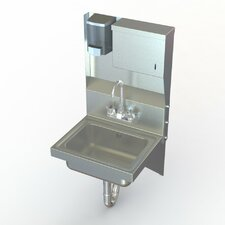 "NSF 17"" x 15"" Wall Mount Utility Hand Sink with Faucet"