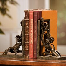 Pinecone Book Ends Pair