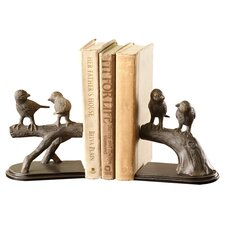 Bird on Branch Book End (Set of 2)