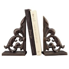 <strong>SPI Home</strong> Ornate Fleur de Lis Book Ends (Set of 2)