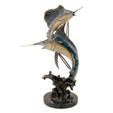 <strong>SPI Home</strong> Keys Double Marlin and Sailfish Figurine