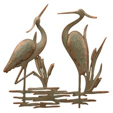Garden Double Heron Wall Décor
