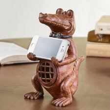 Alligator Cell Phone Holder with Bluetooth Speaker