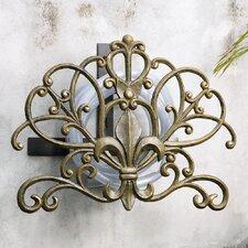 Fleur de Lis Aluminum Iron Hose Holder