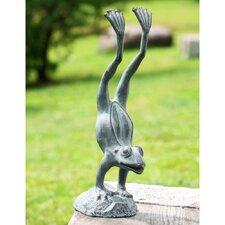 Acrobatic Garden Frog Statue