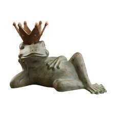 Lazy Frog Prince Bird Feeder Statue