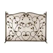 Bird Cast Iron Fireplace Screen