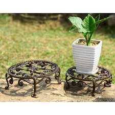 Nested Flower Plant Stand (Set of 2)