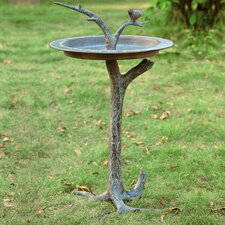 Bird and Twig Sundial/Birdbath