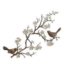 Birds and Blossom Wall Plaque