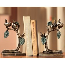 Bird Leaf and Branch Bookends (Set of 2)