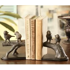 Bird Pair on Branch Book Ends (Set of 2)