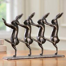 Rabbits on Parade Figurine