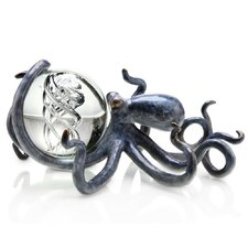 Octopus with Treasure Glass Ball Figurine