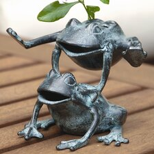 Leaping Frogs Flower Holder Statue