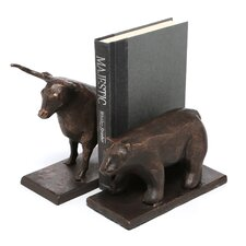 Bull and Bear Book Ends (Set of 2)