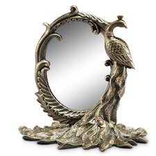 Peacock Table Mirror