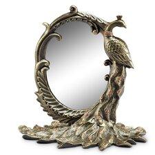 Peacock Table Mirror