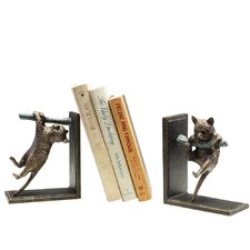 Climbing Cat and Branch Bookends