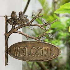 Lovebirds Welcome Wall Decor