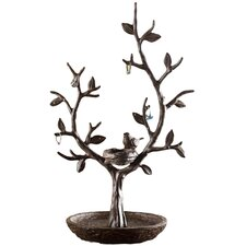 Nest Bird and Twig Tree Jewelry Stand