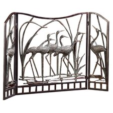 Crane Flock Aluminum Fireplace Screen