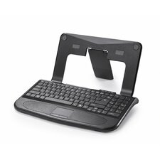 Trendy Stand with Keyboard for Laptops and Notebooks in Black