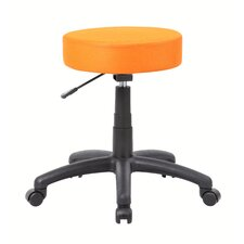 Height Adjustable Dot Stool with Double Wheel Caster