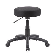 Height Adjustable Stool with Double Wheel Caster