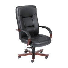 High-Back Italian Leather Executive Chair