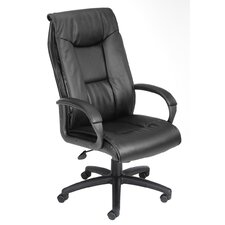 <strong>Boss Office Products</strong> Pillow Top Design High-Back LeatherPlus Office Chair