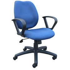 Ratchet Mid-Back Molded Foam Task Chair with Adjustable Arms