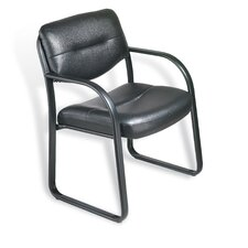 <strong>Boss Office Products</strong> Leather Guest Chair with Scratch Resistant Finish