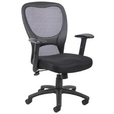 <strong>Boss Office Products</strong> High-Back Mesh Task Chair with Adjustable Arms