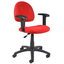 <strong>Boss Office Products</strong> Mid-Back Office Chair with Adjustable Arms