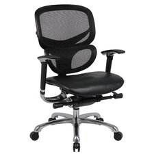 <strong>Boss Office Products</strong> Mid-Back Mesh CaressoftPlus Multi-Functional Office Chair