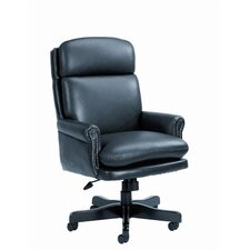 Traditional High-Back Leather Executive Chair