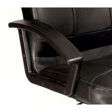 High-Back Leather Executive Office Chair with Lumbar Support
