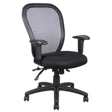 <strong>Boss Office Products</strong> Contoured Mid-Back Mesh Task Chair