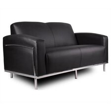 <strong>Boss Office Products</strong> Loveseat with Chrome Frame