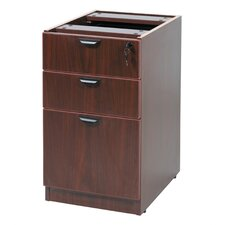 "<strong>Boss Office Products</strong> Case Goods Deluxe Full 28.5"" H x 16"" W Desk Pedestal"